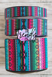 "7/8"", 1.5"" & 3"" Decorative Serape - Heat Transfer - BY THE YARD"