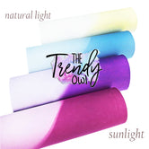 **MAGIC COLOR CHANGING** Pink, Blue, Purple, Yellow - Faux Leather Fabric Sheet