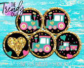 """Hot Mess Express Train"" 1"" Flat Back Buttons - 5pc"