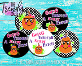 """Nerdy Pumpkin"" 1"" Flat Back Buttons - 5pc"