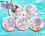 """Sugar Rush"" 1"" Flat Back Buttons - 5pc"