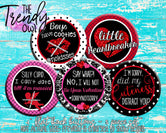 """Anti-Valentine's Day"" Made-To-Match  1"" Flat Back Buttons - 5pc"