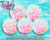"""Spanish Girly Sayings"" 1"" Flat Back Buttons - 5pc"