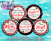 """Merry Little Christmas"" 1"" Flat Back Buttons - 5pc"