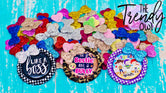 Glittered Mini Bows - Bottle Cap Center Accents - 100pcs