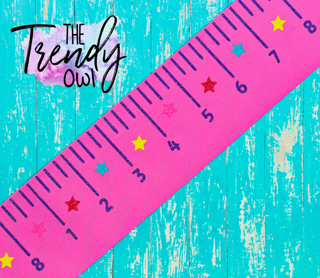 "3"" Bright Back To School Rulers - 5yd Roll"