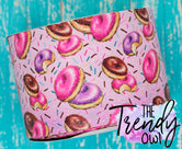 "3"" Glittered Donuts - Heat Transfer Printed - 3yd bundle"