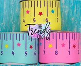 "3"" Back To School Rulers - CUSTOM COLORS - 3yd cuts"