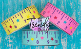 "1.5"" Back To School Rulers - CUSTOM COLORS - 3yd cuts"