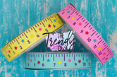 "7/8"" Back To School Rulers - CUSTOM COLORS - 3yd cuts"