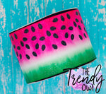 "3"" Glittered Pink Watermelon Slice - Heat Transfer Printed - 3yd bundle"