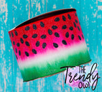 "3"" Glittered Red Watermelon Slice - Heat Transfer Printed - 3yd bundle"