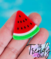 Thin Glitter Watermelon Resins - 3pc.