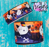 "1.5"" & 3"" Halloween Kitten Witches Heat Transfer - BY THE YARD"