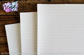 """Lined Paper"" - U.S. Designer Litchi/Pebbled Faux Leather Printed Fabric Sheets"