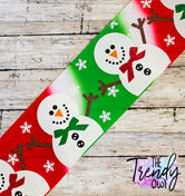 "3"" Classic Snowman on Christmas Tie Dye Heat Transfer - BY THE YARD"