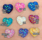 12mm Cracked Ice Gemstone Hearts - 10pcs/pack