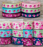 "3/8"", 7/8"", 1.5"" Vintage Floral - Shabby Chic Tea Party Inspired - 5yd Roll"