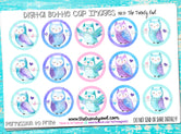 "Owl Themed - 1"" Bottle Cap Images - INSTANT DOWNLOAD"