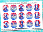 "USA Icons/USA Firework - 1"" Bottle Cap Images - INSTANT DOWNLOAD"