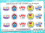 """Love To Learn"" - Back To School Themed - 1"" Bottle Cap Images - INSTANT DOWNLOAD"