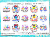 "2nd Grade! - Back To School Themed - 1"" Bottle Cap Images - INSTANT DOWNLOAD"