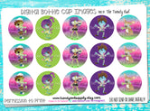"Watercolor Zombies - 1"" Bottle Cap Images - INSTANT DOWNLOAD"