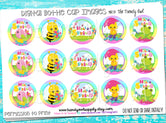 """Hello Spring""  - 1"" Bottle Cap Images - INSTANT DOWNLOAD"