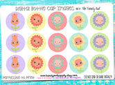 """Spring Flowers""  - 1"" Bottle Cap Images - INSTANT DOWNLOAD"