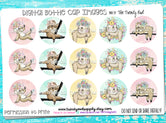 """Spring Sloths""  - 1"" Bottle Cap Images - INSTANT DOWNLOAD"