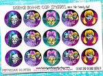 """Zombie Chicks""  - 1"" Bottle Cap Images - INSTANT DOWNLOAD"