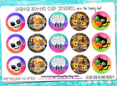 """BOO Crew"" Halloween/Fall Sayings  - 1"" Bottle Cap Images - INSTANT DOWNLOAD"