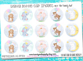 "Baby Nursery Animals  - 1"" Bottle Cap Images - INSTANT DOWNLOAD"