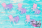 Pastel Shimmer Tricolor Unicorn Resin - 1pc.