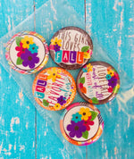 "Flat Back Buttons M2M  ""Fall Is My Favorite Color"" Fall Collection - 5pc"