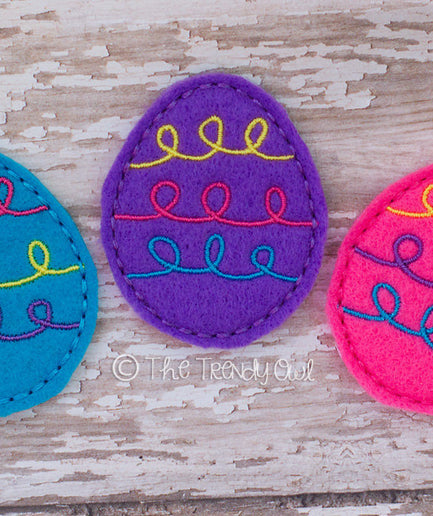 1pc. Doodle Eggs! Easter Inspired Felties - UNTRIMMED