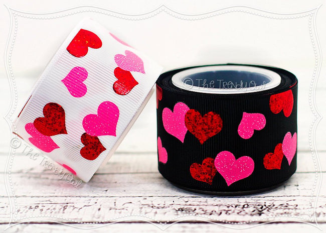 "1.5"" Valentine's Day Heart Scatter - 5yd Roll"