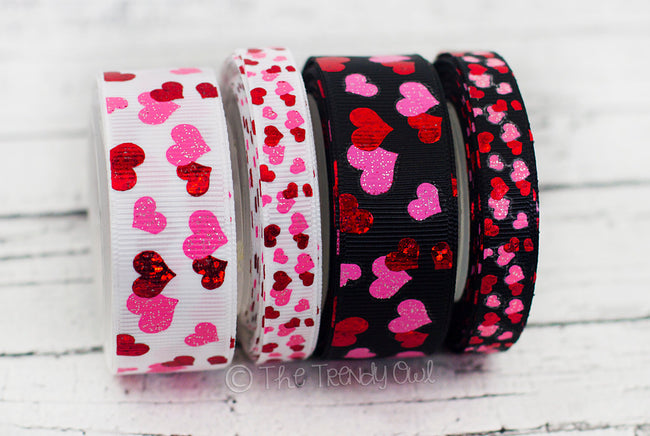 "3/8"" & 7/8"" Valentine's Day Heart Scatter - 5yd Roll"