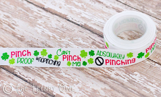 "7/8"" Pinch Proof - St. Patrick's Day Inspired - 5yd Roll"