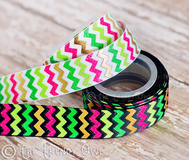 "7/8"" Lucky Chevron - St. Patrick's Day Inspired - 5yd Roll"