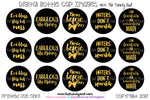 "Gold & Black Sayings/Quotes - ""Bows Before Bros"" - 1"" BOTTLE CAP IMAGES - INSTANT DOWNLOAD"