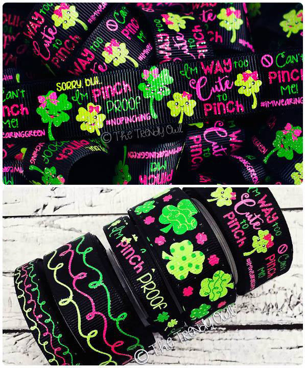 "3/8"" & 7/8"" St. Patrick's Day Inspired Prints - 5yd Roll"