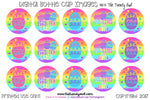 "Bright Rainbow Doodle Eggs! Easter Inspired - 1"" Bottle Cap Images - INSTANT DOWNLOAD"