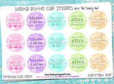 "MISC Sayings on Watercolor Chevron - 1"" BOTTLE CAP IMAGES - INSTANT DOWNLOAD"