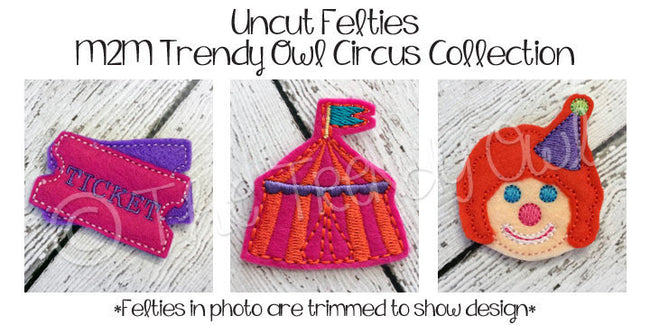 1pc. Circus! Inspired Felties - UNTRIMMED