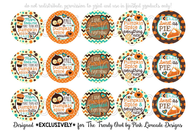 "Pumpkin EVERYTHING! Pumpkin Spice Inspired - 1"" BOTTLE CAP IMAGES - INSTANT DOWNLOAD"