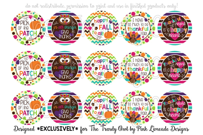 "Give Thanks! Fall/Thanksgiving Inspired - 1"" Bottle Cap Images - INSTANT DOWNLOAD"