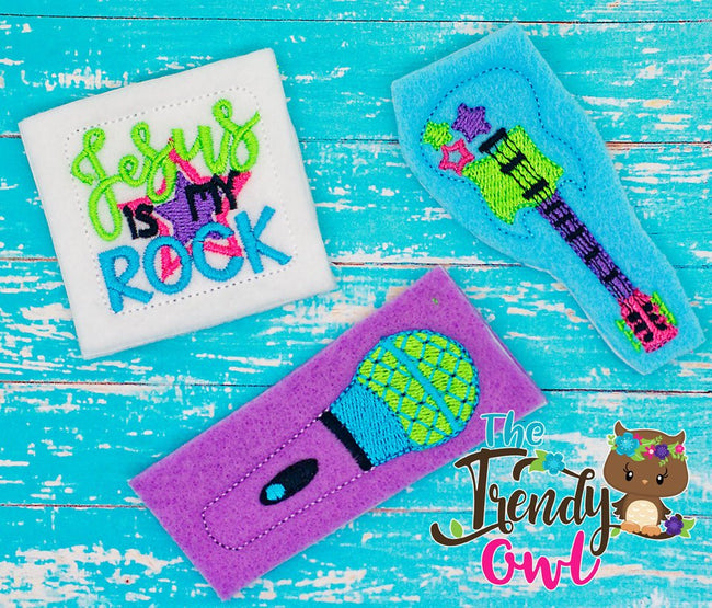 Jesus Is My Rock!! Music Inspired Felties - UNTRIMMED