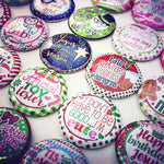 WINTER/CHRISTMAS - 25pc. Flat Back Button Grab Bag