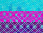 "3"" Laser Foil Mermaid Scales on Aqua Ribbon - 5yd Roll"